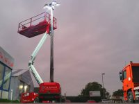 düstere Tagen Lichtmast Towerlight VB9 LED Atlas Copco QLB02
