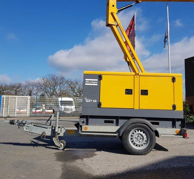 Atlas Copco QAS30 KDS Stromaggregat Stromerzeuger Baumaschine