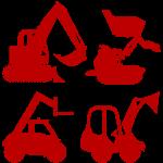 Baumaschinen Radlader Bagger mieten