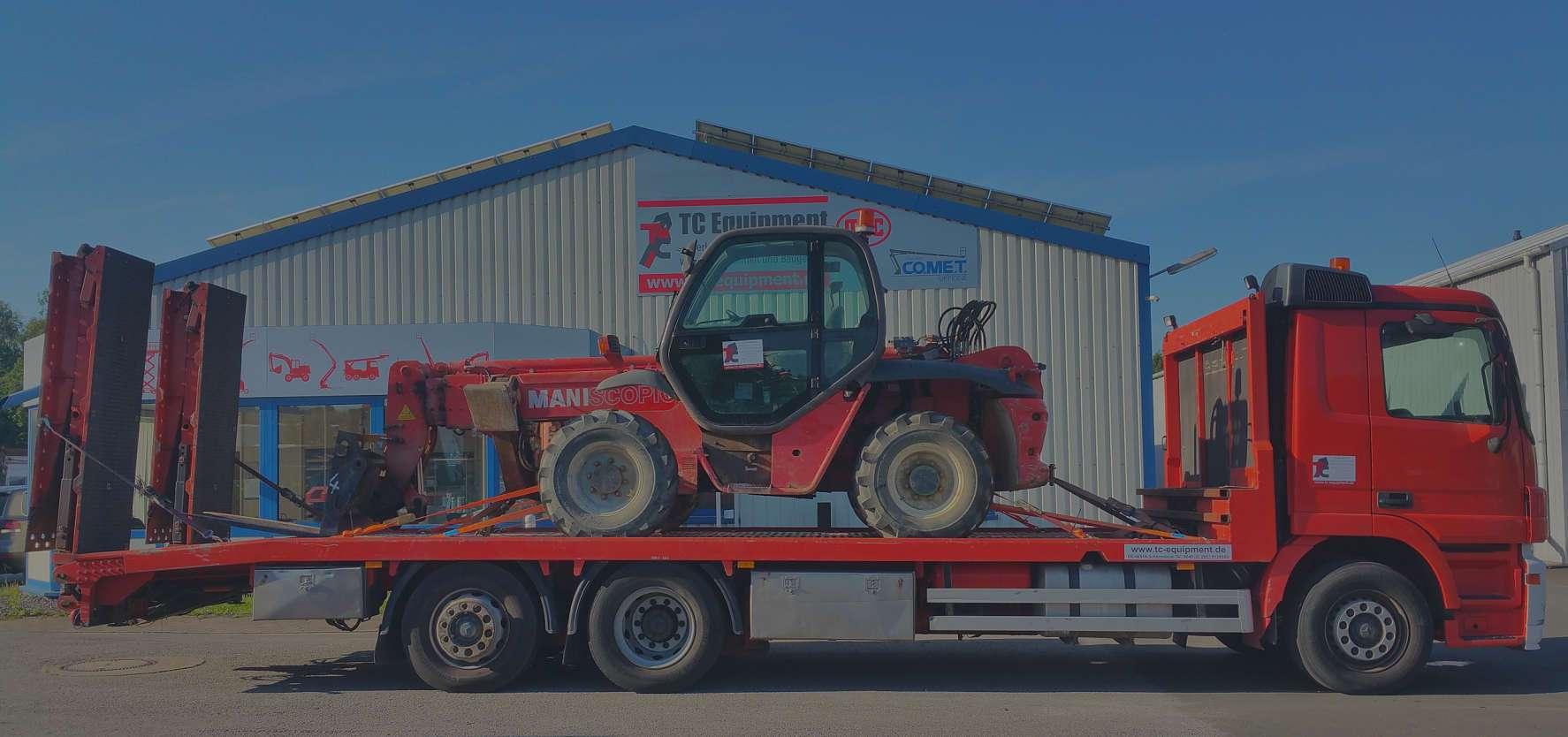 TC Equipment Transport Tieflader Staplertransport Arbeitsbühnentransport
