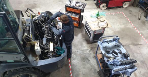 Service Arbeitsbuehnen Baumaschinen Stapler
