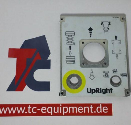 Upright X Serie Bedienpultblende mounting plate